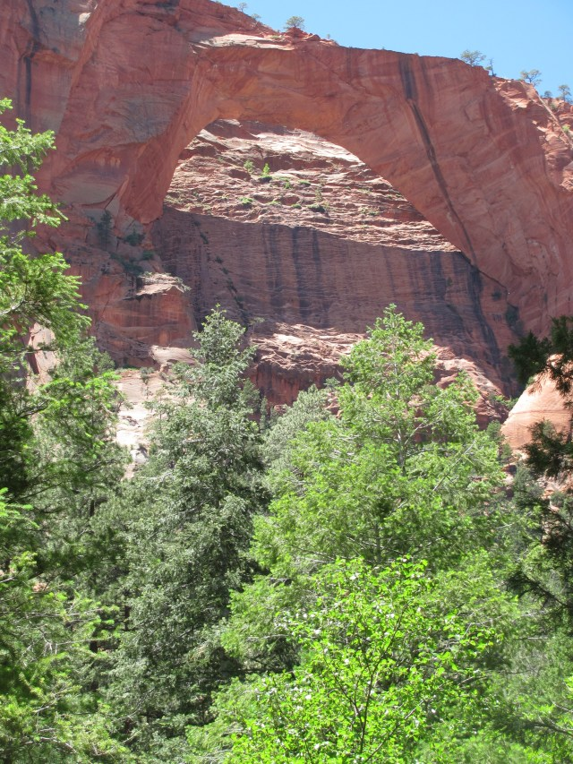 La Verkin Creek Trail in Kolob Canyon: Kolob Arch in Zion National Park
