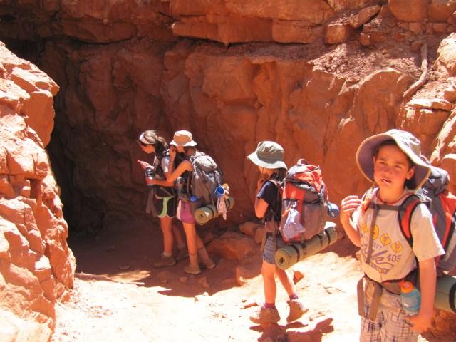Grand Canyon Rim to Rim-Heading into Supai Tunnel