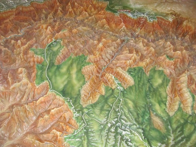 Grand Canyon Rim to Rim with kids: Grand Canyon Topographical Map