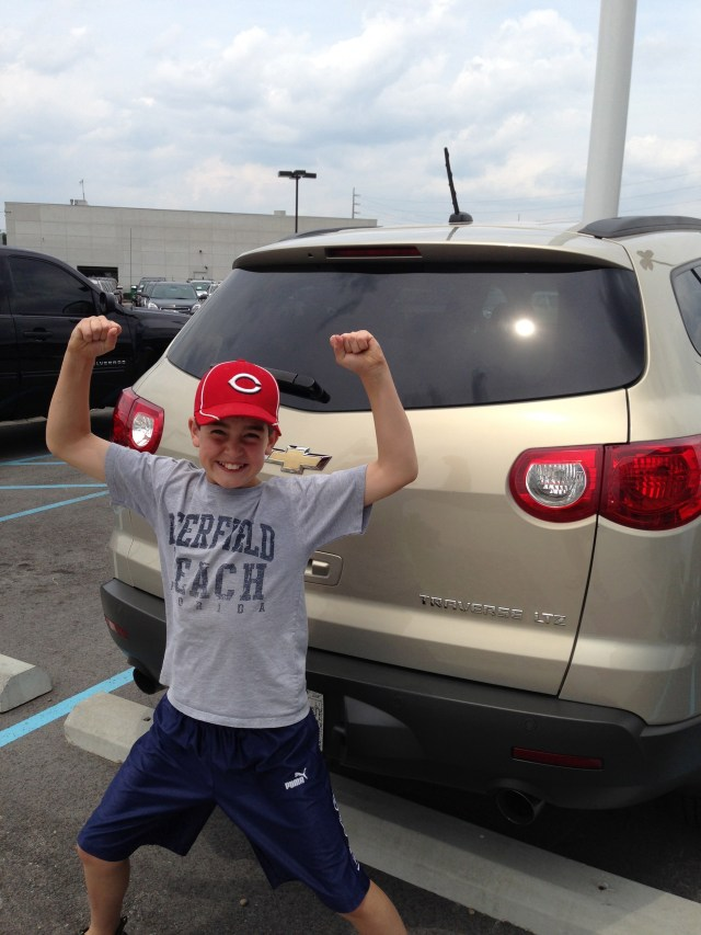 Garrett loves Our New (to us) Traverse