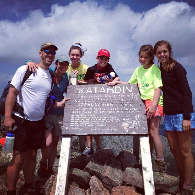 Climbing Mt Katahdin with kids: Baxter Peak on Mt. Katahdin in Baxter State Park