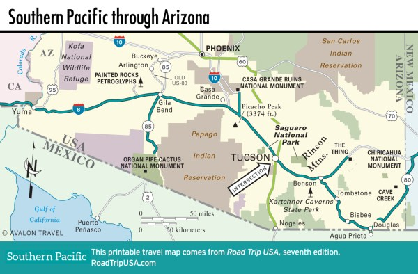 Southern Pacific US80 CrossCountry Route ROAD TRIP USA