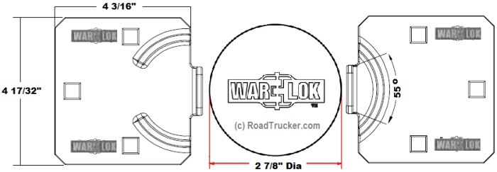 War-Lok Heavy Duty Van Hasp/Puck Lock Set, RoadTrucker