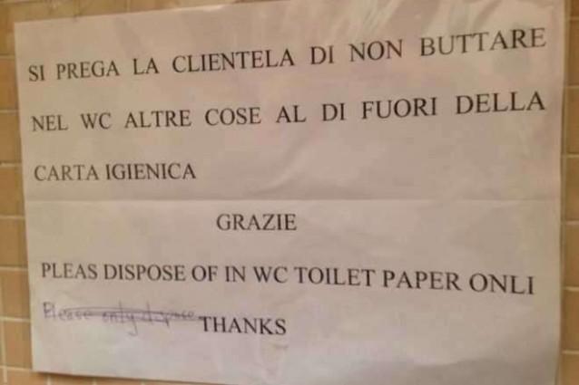 Napoli la traduzione in inglese di un bar non  proprio delle migliori  ROAD TV ITALIA