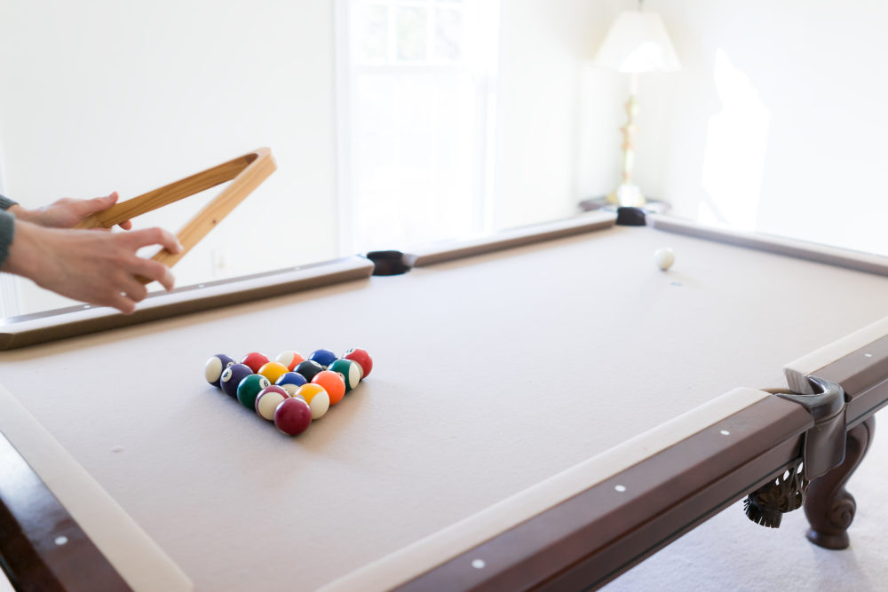 Packing a billiard table for moving