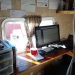 Converting Bunks Into A Usable Desk And Storage Space In Our
