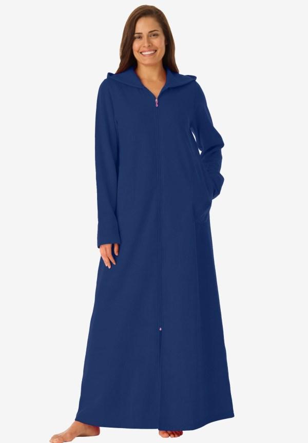 Long Fleece Hooded Robe Dreams & . Size Robes