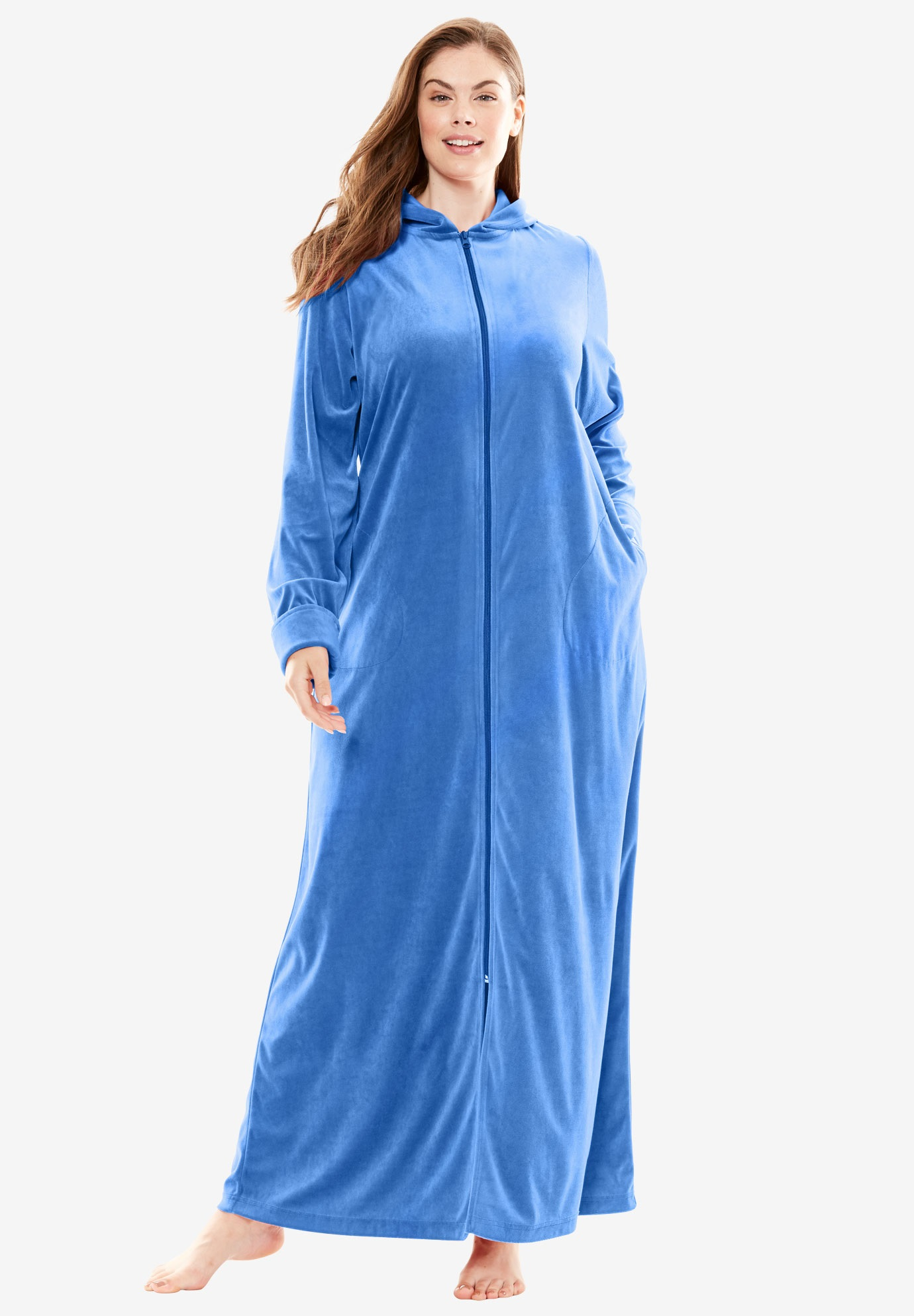 Hooded Velour Robe By Dreams Amp Co