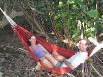 Ua Huka - Liesbet and Mark in hammock