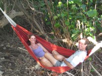 Ua Huka - Liesbet and Mark in hammock