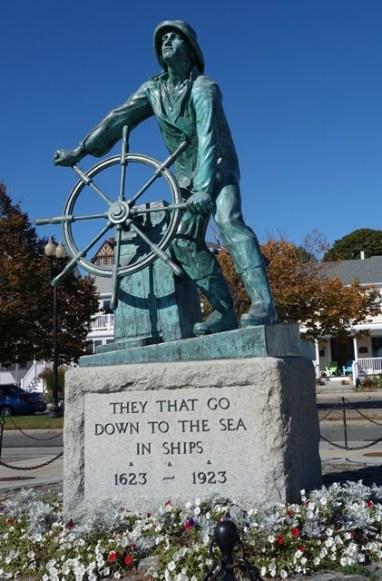 Fisherman's memorial along the waterfront
