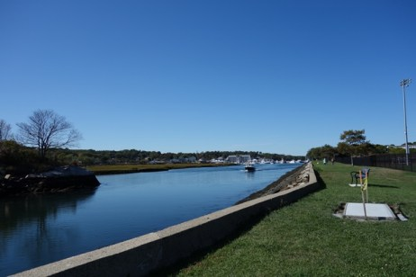 Blynman Canal separates Cape Ann from the mainland