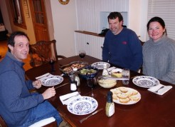 Eggplant Parmesan dinner with friends