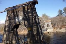 """""""Wire Bridge"""" outside Kingfield"""