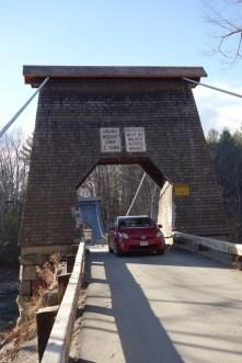 "Driving over the ""Wire Bridge"""