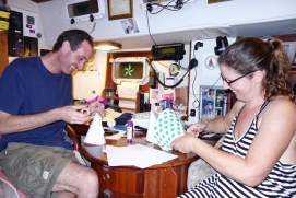 Mark and Rosie being creative!