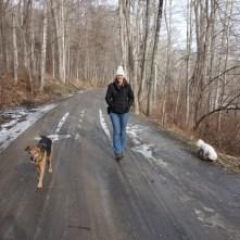 Quiet, but muddy, road