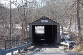 Bull's Bridge, one of the picturesque covered bridges of Connecticut