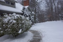 We keep the footpath to the front door shoveled. It is a very easy chore.