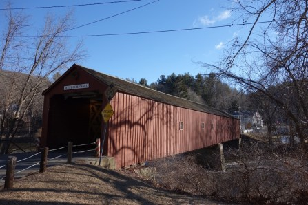 Pretty covered bridge in Cornwall, CT