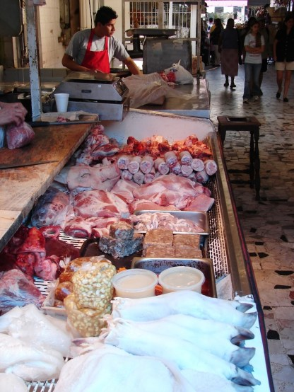 Meat market, Mexico