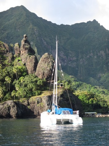 Irie in the Bay of Virgins, Marquesas, French Polynesia