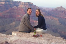 Romance above the Grand Canyon
