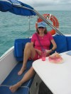 Visit on Irie from my German friend Sabine in the Bahamas