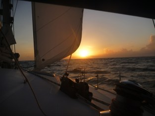 Sailing towards the Western Caribbean