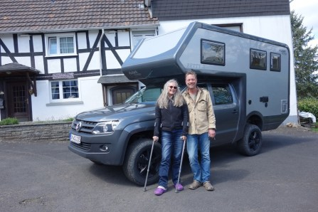 Visiting good traveler friends Michael and Sabine in Germany - I love their new camper, very inspiring!
