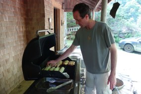 Mark, the grill master
