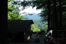 Lean-to campsite with a view - these spots are much more expensive than a basic campsite, which already costs $20 a night