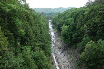 Impressive Quechee Gorge - a popular tourist attraction