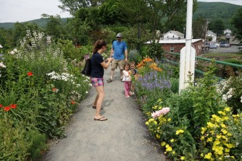 Visiting the Bridge of Flowers with family