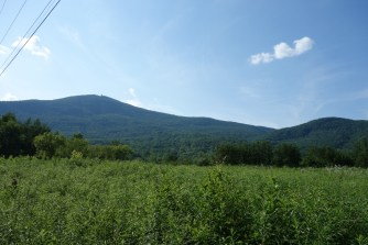 Mount Greylock seen on the drive home