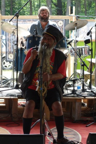 Ras John, who started this reggae festival in 1985