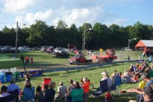 The most popular event of the weekend: truck pulling