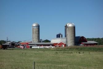 Farms and grain silos everywhere!