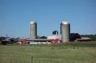 Farms and grain silos everywhere!