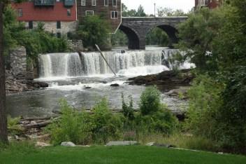 Roaring falls in Middlebury