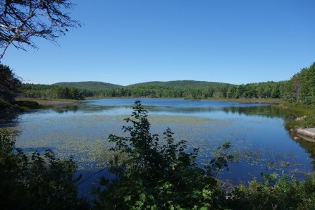 The carriage roads pass a whole array of lakes, especially in the northern part of the park