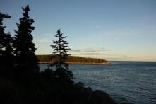 The last sun rays hit the peninsula