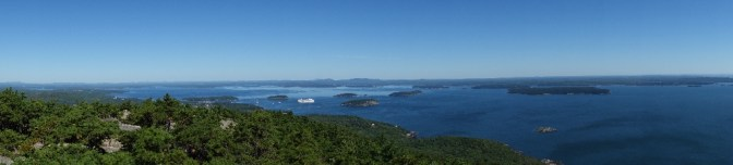 View from the top of Champlain Mountain