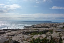 The pink granite cliffs of Schoodic Point