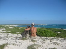 "Our ""backyard"" in Barbuda (Caribbean)"