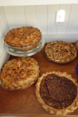 Homemade pies for dessert