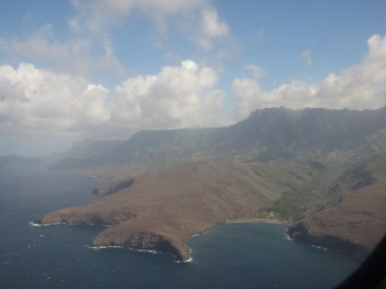 Returning to Nuku Hiva from a visit to Belgium