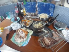 I took this photo a bit late! Most of the food is gone...