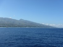 Approaching Tahiti after a three day passage from the Tuamotus