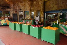 Fresh produce, a block away